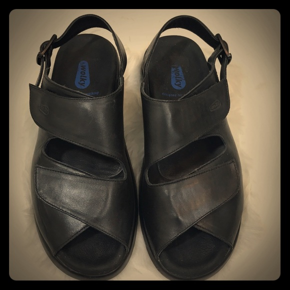 6a6643e80a Wolky Black Leather Velcro Sandals. M 5a7dc3d272ea885707a1f1f2. Other Shoes  you ...
